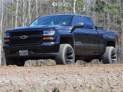"2019 Chevrolet Silverado 1500 LD - 20x12 -44mm - Fuel Assault - Leveling Kit - 33"" x 12.5"""