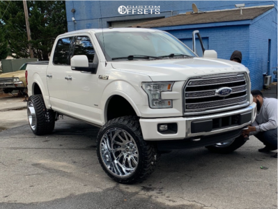 "2016 Ford F-150 - 24x14 -76mm - Hardcore Offroad HC15 - Suspension Lift 7"" - 33"" x 13.5"""