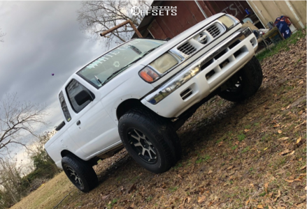 """1999 Nissan Frontier - 18x9 18mm - XD XD798 Addict - Leveling Kit - 33"""" x 11.5"""""""