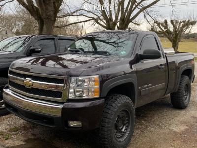 2008 Chevrolet Silverado 1500 - 17x9.5 -18mm - Black Rhino Armory - Stock Suspension - 285/70R17