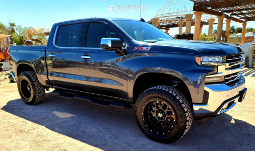 "2019 Chevrolet Silverado 1500 - 20x10 -24mm - XD XD820 - Suspension Lift 4"" - 35"" x 12.5"""