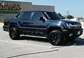 """2006 Chevrolet Avalanche - 22x12 -44mm - Fuel Cleaver - Leveling Kit - 33"""" x 12.5"""""""