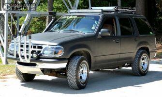 "1996 Ford Explorer - 15x10 -44mm - Ultra Rogue - Leveling Kit & Body Lift - 32"" x 11.5"""