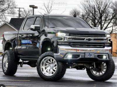 "2020 Chevrolet Silverado 1500 - 22x12 -44mm - KG1 Forged Boost - Suspension Lift 9"" - 37"" x 13.5"""