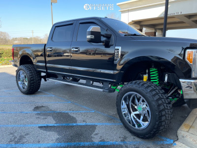 """2019 Ford F-250 Super Duty - 22x12 -44mm - Xtreme Force XF6 - Suspension Lift 8.5"""" - 40"""" x 14.5"""""""