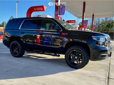 "2019 Chevrolet Tahoe - 20x9 10mm - American Outlaw Lonestar - Leveling Kit - 33"" x 12.5"""