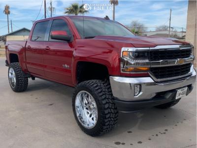 "2018 Chevrolet Silverado 1500 - 22x12 -44mm - TIS 544 - Suspension Lift 6.5"" - 35"" x 12.5"""