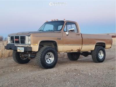 "1986 GMC K2500 - 16x10 -38mm - Alloy Ion 171 - Suspension Lift 4"" - 315/75R16"