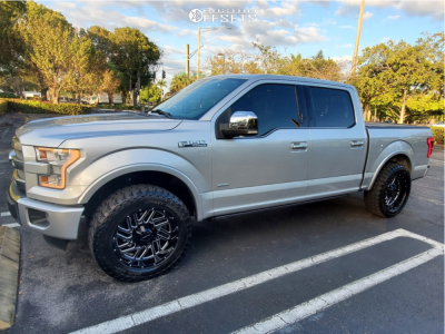 """2016 Ford F-150 - 20x10 -24mm - Falcon Off-Road F2 - Leveling Kit - 33"""" x 12.5"""""""