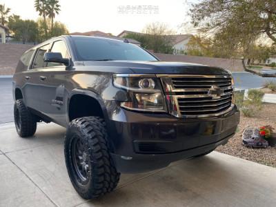 "2015 Chevrolet Suburban - 20x9.5 -18mm - Black Rhino Sprocket - Suspension Lift 6"" - 35"" x 12.5"""