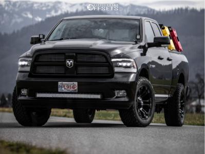 "2010 Dodge Ram 1500 - 20x9 0mm - Fuel Vapor - Leveling Kit - 33"" x 12.5"""