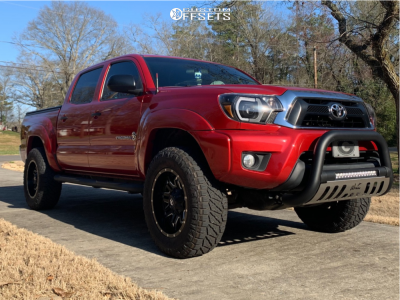 """2014 Toyota Tacoma - 18x10 -12mm - Fuel Lethal - Leveling Kit - 33"""" x 12.5"""""""