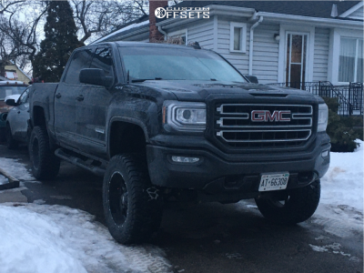 "2017 GMC Sierra 1500 - 20x10 -24mm - Moto Metal Mo970 - Suspension Lift 6"" - 35"" x 12.5"""