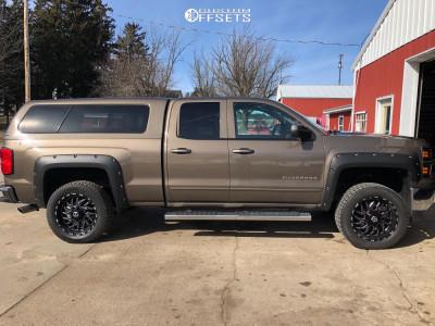 "2015 Chevrolet Silverado 1500 - 20x9 0mm - TIS 544bm - Leveling Kit - 31"" x 9.5"""