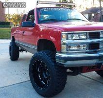 "1998 Chevrolet K1500 - 20x12 -44mm - Moto Metal MO962 - Suspension Lift 6"" - 35"" x 12.5"""