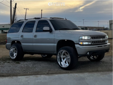 2004 Chevrolet Tahoe - 22x14 -76mm - American Force Blade Ss - Leveling Kit - 305/40R22