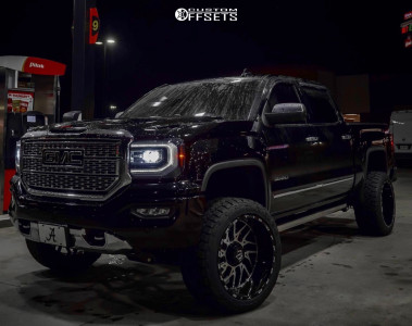 "2018 GMC Sierra 1500 - 22x12 -44mm - TIS 544mb - Suspension Lift 5"" - 33"" x 12.5"""