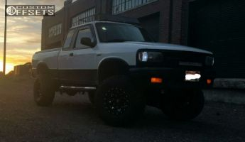 "1995 Mazda B4000 - 15x10 -43mm - Fuel Lethal - Suspension Lift 4"" - 33"" x 12.5"""