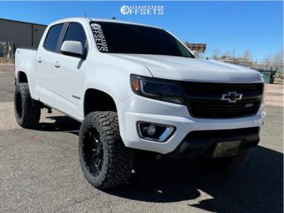 "2015 Chevrolet Colorado - 20x10 -24mm - American Offroad A108 - Suspension Lift 4"" - 33"" x 12.5"""