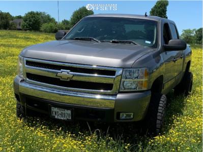 "2008 Chevrolet Silverado 1500 - 20x12 -44mm - Hardrock Affliction - Suspension Lift 6"" - 35"" x 12.5"""