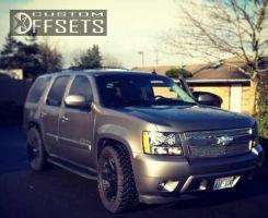 "2007 Chevrolet Tahoe - 20x10 15mm - XD Rockstar - Lowered on Springs - 33"" x 11.5"""