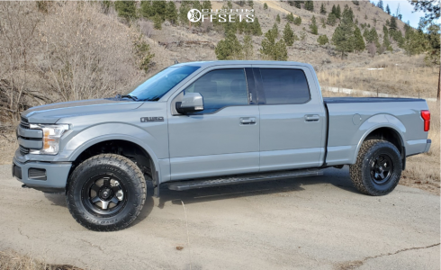 "2020 Ford F-150 - 18x9 20mm - Fuel Shok - Leveling Kit - 33"" x 12.5"""