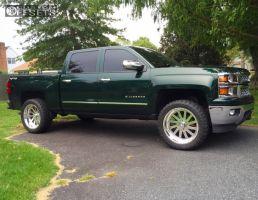 "2014 Chevrolet Silverado 1500 - 22x10 -25mm - American Force BURNOUT SS - Leveling Kit - 33"" x 12.5"""