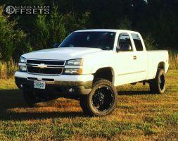 "2006 Chevrolet Silverado 1500 - 20x10 -24mm - Havok H103 - Suspension Lift 6"" - 35"" x 12.5"""