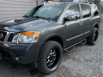 """2011 Nissan Armada - 20x9 0mm - BMF Payback - Leveling Kit - 33"""" x 12.5"""""""