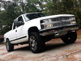 "1995 Chevrolet K1500 - 20x12 -44mm - Xd XD775 - Level 2"" Drop Rear - 33"" x 12.5"""