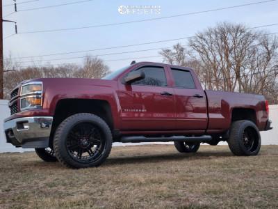 "2015 Chevrolet Silverado 1500 - 22x12 -44mm - Hostile Lunatic - Suspension Lift 3.5"" - 33"" x 12.5"""