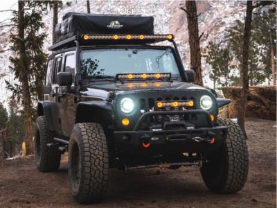 "2009 Jeep Wrangler JK - 20x10 18mm - Anthem Off-Road Viper - Suspension Lift 4"" - 37"" x 12.5"""