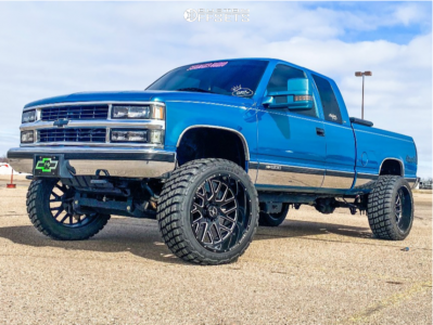 "1997 Chevrolet K1500 - 22x12 51mm - Xtreme Force Xf10 - Suspension Lift 4.75"" - 33"" x 12.5"""