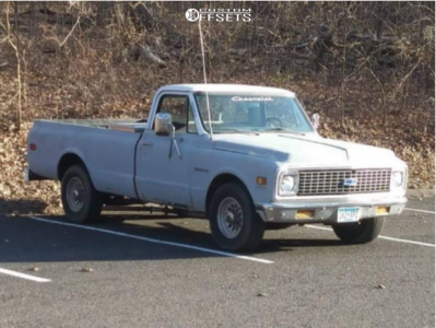1972 Chevrolet C20 Pickup - 16x8.5 0mm - American Racing Outlaw Ii - Stock Suspension - 265/75R16