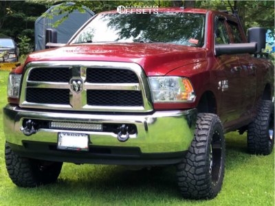 "2014 Ram 2500 - 20x10 -19mm - Hostile H108 - Leveling Kit - 35"" x 12.5"""