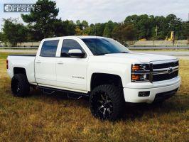"""2015 Chevrolet Silverado 1500 - 22x12 -44mm - Fuel Nutz - Suspension Lift 4.5"""" - 33"""" x 12.5"""""""