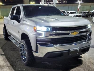 "2019 Chevrolet Silverado 1500 - 22x12 -44mm - Axe Nemesis - Leveling Kit - 33"" x 12.5"""