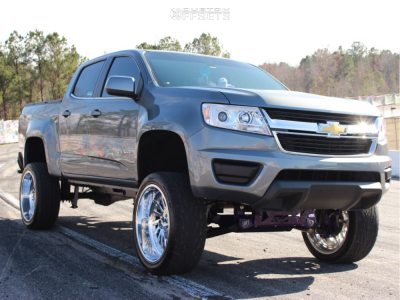 "2018 Chevrolet Colorado - 22x10 -25mm - Fuel Forged FF16 - Suspension Lift 6"" - 285/35R22"