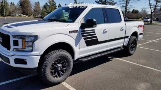 2020 Ford F-150 - 17x8.5 14mm - Fuel Assault - Leveling Kit - 285/65R17