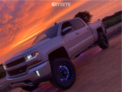 "2016 Chevrolet 1500 - 20x10 -24mm - TIS 544bm - Suspension Lift 7"" - 35"" x 12.5"""