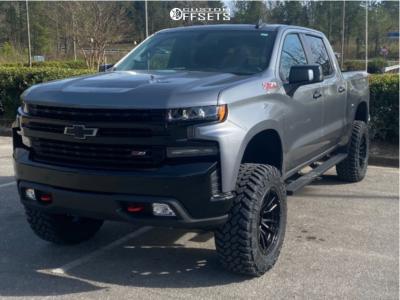 """2021 Chevrolet Silverado 1500 - 20x10 -18mm - Fuel Rebel - Suspension Lift 4"""" - 35"""" x 12.5"""""""