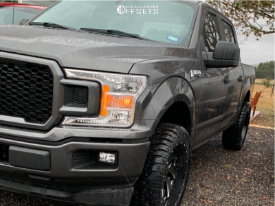 """2020 Ford F-150 - 22x10 -18mm - Fuel Cleaver - Suspension Lift 2.5"""" - 33"""" x 12.5"""""""