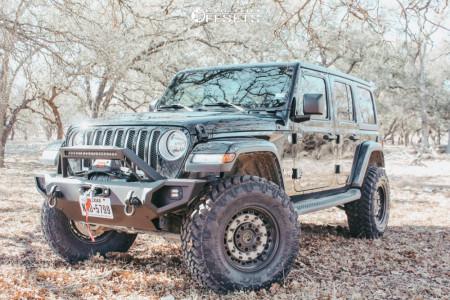 "2020 Jeep Wrangler - 17x9.5 -20mm - Black Rhino Arsenal - Suspension Lift 3.5"" - 35"" x 12.5"""