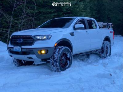 "2019 Ford Ranger - 17x8.5 25mm - Icon Alloys Rebound - Suspension Lift 3"" - 35"" x 12.5"""