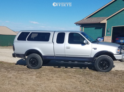 2000 Ford F-150 - 18x9 -12mm - Anthem Off-Road Intimidator - Leveling Kit & Body Lift - 275/70R18