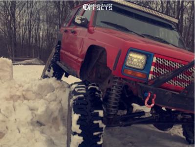 "1998 Jeep Cherokee - 15x8 -19mm - Trail Master Tm5 - Suspension Lift 8"" - 35"" x 12.5"""