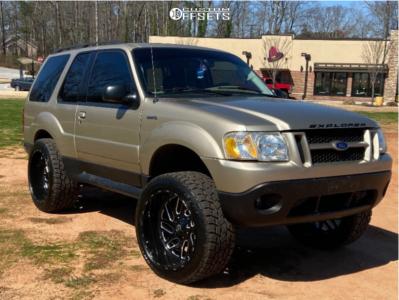 "2003 Ford Explorer Sport - 22x12 -43mm - Fuel Triton - Suspension Lift 6"" - 33"" x 12.5"""