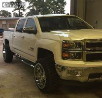 "2014 Chevrolet Silverado 1500 - 22x12 -44mm - Gear Off-Road Big Block - Suspension Lift 5"" - 33"" x 12.5"""