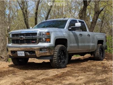 "2014 Chevrolet Silverado 1500 - 20x10 -19mm - Hardrock Gunner - Leveling Kit - 33"" x 12.5"""