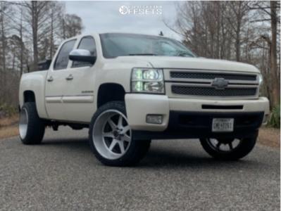 "2013 Chevrolet Silverado 1500 - 22x12 -44mm - Xtreme Force Xf6 - Leveling Kit - 33"" x 12.5"""